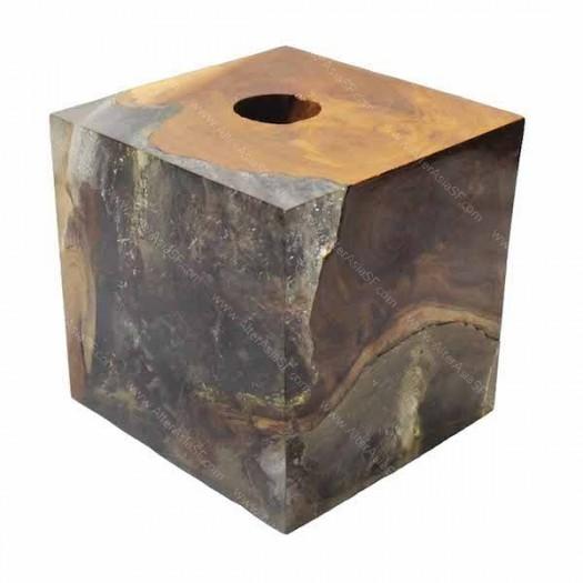 Porta vela madera