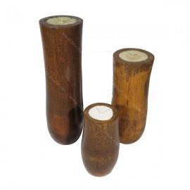 Set velas en tronco de palmera