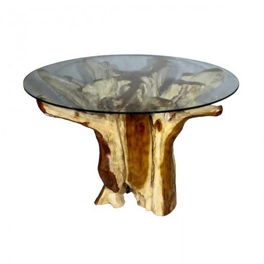 Mesa alta de raíz de teca