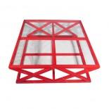 Mesa centro de cristal