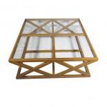 Mesa baja de cristal
