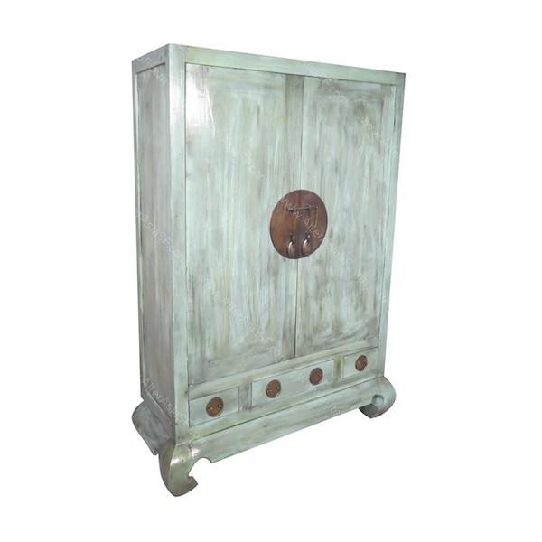 Armario de boda chino con dos puertas y tres cajones fabricado en teca - Armarios de boda chinos ...