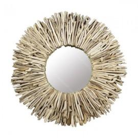 Espejo de madera de deriva