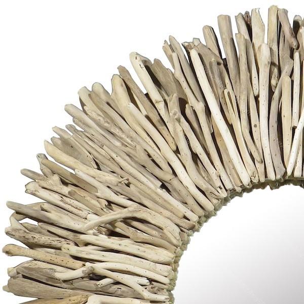 Espejo realizado con madera de deriva