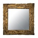 Espejo de ramas de teca