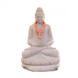 Escultura de Buda de piedra