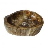 Lavabo madera fosilizada marrón