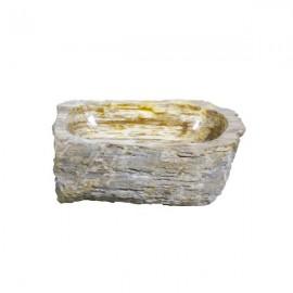 Lavabo madera fosilizada grisáceas