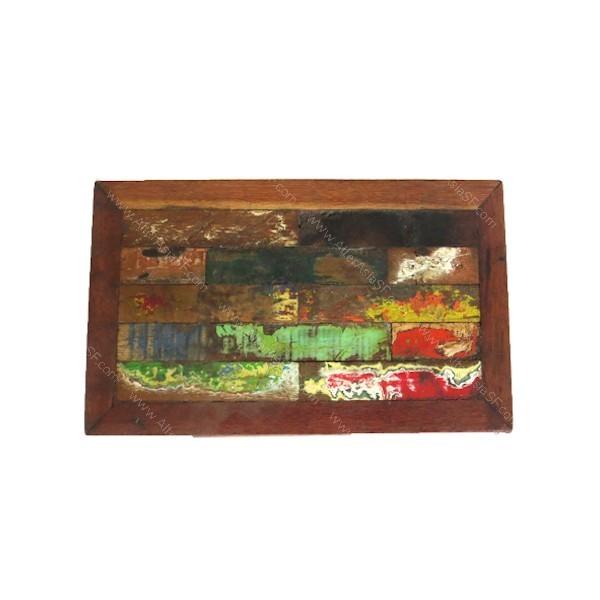 Taburete para ni o fabricado en su mayor a con madera de teca reciclada proveniente de derribos - Taburete ninos ...