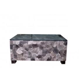 Mesa baja con cristal