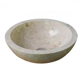 Lavabo de mármol crema pulido