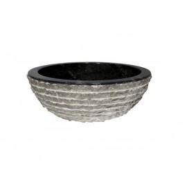 Lavabo de mármol negro rayas