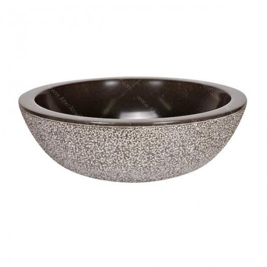 Lavabo de mármol negro martillo
