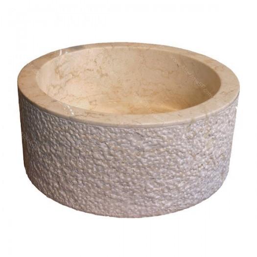 Lavabo crema cilindro martillo