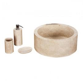 Lavabo crema cilindro pulido