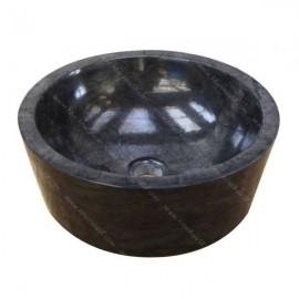Lavabo negro cilindro pulido