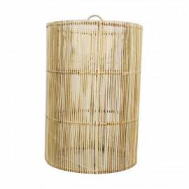 Lámpara ratán cilindrica