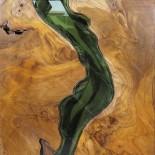 Cuadro de teca rio