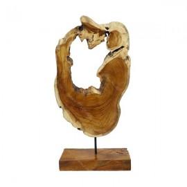 Escultura salvaje de teca