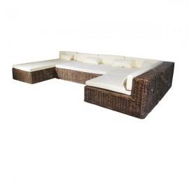 Set sofá de ratán