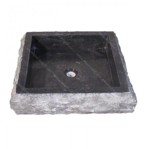 Lavabo de mármol rústico