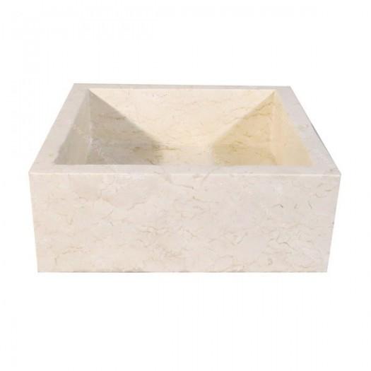 Lavabo de mármol cuadrado