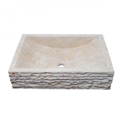 Lavabo rectangular mármol