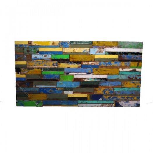 Cabecero madera reciclada