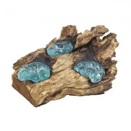 Candelabro triple cristal
