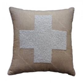 Funda cojín cruz suiza