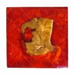 Taburete resina rojo