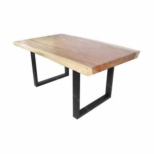 Mesa tronco de acacia