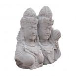 Escultura pareja piedra