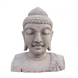 Busto de Buda de piedra