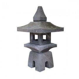 Lámpara asiática de piedra