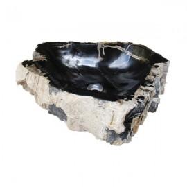 Lavabo de madera fosilizada