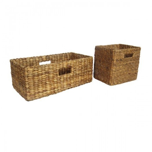 Set de 2 cestos rectangulares