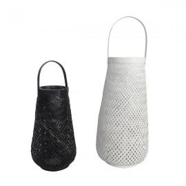 Set de 2 cestos blanco y negro