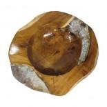 Bowl teca y resina cristal