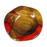 Bowl teca y resina roja