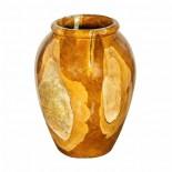 Jarrón madera y resina cristal