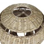 Lámpara ratán ovalada con lineas