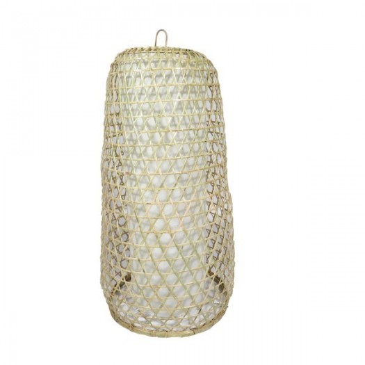Lámpara de bambú con tulipa interior