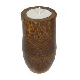 Vela en tronco de palmera